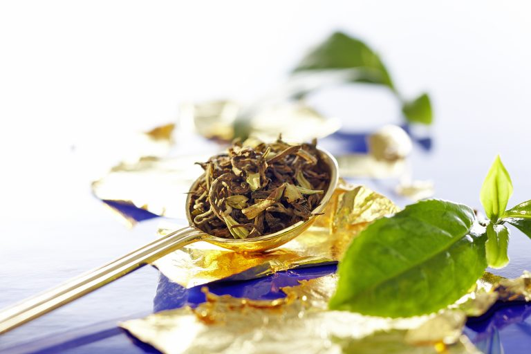 Messmer Green Tea with Edible Gold Flakes